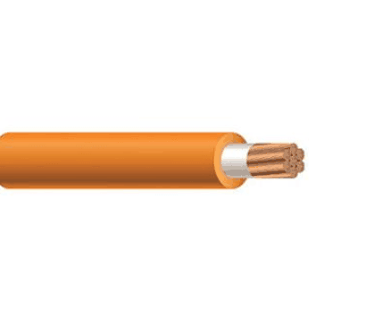 Unshielded orange cable
